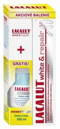 LACALUT white repair + Ústna voda White zubná pasta 75 ml + ústna voda 100ml