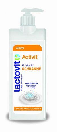 Lactovit Activit Telové mlieko Ochranné, s lactosomas, s pumpičkou 1x400 ml