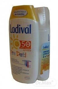 Ladival balík SPF 50 (SENSITIV telové mlieko SPF 50 + PRE DETI telové mlieko SPF 50+ + AKUT sprej po opaľovaní) 1x1 set