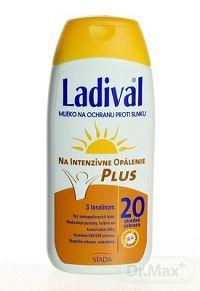 Ladival P+T Plus mlieko na opaľovanie SPF20 200 ml