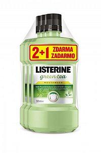 LISTERINE GREEN TEA 2+1 ústna voda 3x500 ml, 1x1 set