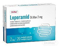 Loperamid Dr.Max 2 mg cps dur (blis.Al/PVC/PVDC) 1x20 ks