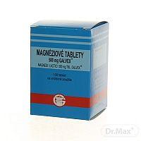 MAGNESII LACTICI 500 MG, Magnéziové tablety Galvex magnesii lactici 500 mg, 100 tabliet