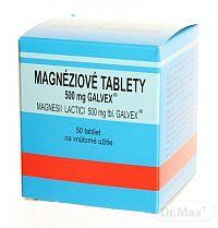 Magnesii Lactici 500mg tbl. Galvex, Magnéziové tablety 500mg Galvex tbl.50 x 0,5 g