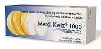 MAXI-KALZ 1000 tbl eff 1000 mg (tuba PP) 1x10 ks