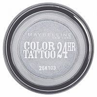 Maybelline Color Tattoo 24HR očné tiene 50 Eternal Silver 4 g