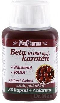 MedPharma BETAKAROTÉN 10 000 m.j.+Pantenol+PABA cps 30+7 (37 ks)