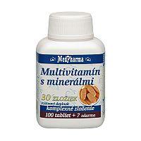 MedPharma MULTIVITAMÍN S MINERÁLMI 30 ZLOŽIEK tbl 100+7 (107 ks)