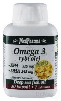 MedPharma OMEGA 3 rybí olej forte - EPA, DHA cps 30+7 (37 ks)