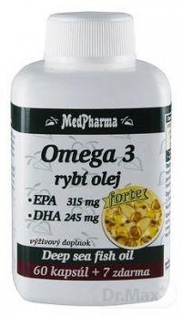 MedPharma OMEGA 3 rybí olej forte - EPA, DHA cps 60+7 (67 ks)