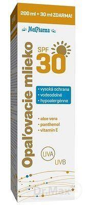 MedPharma OPAĽOVACIE MLIEKO SPF 30 200+30 ml (230 ml)