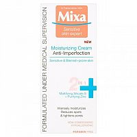 Mixa hydratačný krém 2v1 proti nedokonalostiam Sensitive skin Expert Anti-Imperfection Moisturizing Cream 50 ml