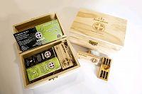 MMP Dezinfekcia auta - tymián + konope s CBD olej + difúzer v drevenom boxe 1×1 kus