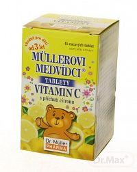 Mullerove medvedíky Vitamín C s príchuťou citróna 45 tabliet