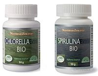 Nástroje zdravia Chlorella Extra Bio+Spirulina Extra Bio-DUOPACK 2x50 g/2x200 tbl.