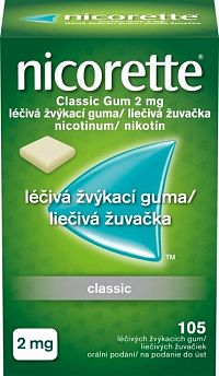 Nicorette Classic Gum 2 mg 105 kusov