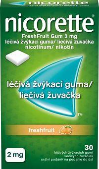 Nicorette Freshfruit Gum 2 mg 30 kusov