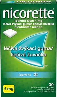 Nicorette Icemint Gum 4 mg 30 kusov