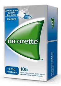 Nicorette Icemint Gum 4 mg gum med (blis.PVC/PVDC/Al) 1x105 ks