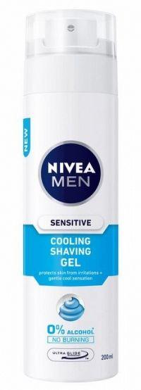 Nivea Men Sensitive Cooling gél na holenie 200 ml