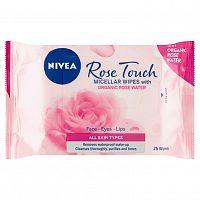 NIVEA Micelární obrúsky Rose 25 ks