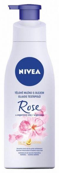 NIVEA Rose & Argan Oil 200 ml telové mlieko s olejom