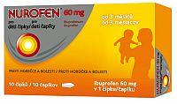 NUROFEN pre deti čapíky 60 mg čapíky, 10 ks