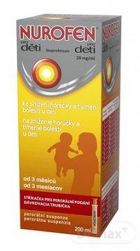 NUROFEN pre deti sus por (fľ.PET hnedá) 1x200 ml