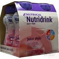 Nutridrink Juice Style s jahodovou príchuťou 4x200 ml