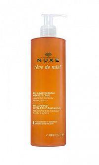 NUXE Réve de Miel Sprchový gél na tvár a telo zvláčňujúci, pre suchú a citlivú pokožku, 1x400 ml