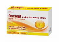 Orasept s príchuťou medu a citrónu 1x24 pastiliek