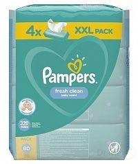 PAMPERS Baby Wipes Fresh Clean vlhčené obrúsky XXL pack 4x80 ks (320 ks)