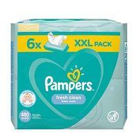 PAMPERS Baby Wipes Fresh Clean vlhčené obrúsky XXL pack 6x80 ks (480 ks)