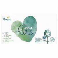 PAMPERS baby wipes PURE Aqua vlhčené obrúsky náplň 9x48 (432 ks)