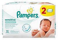 PAMPERS baby wipes SENSITIVE Economy 2 vlhčené obrúsky 2x56 (112 ks)