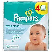 Pampers Fresh Clean - vlhčené obrúsky 4 x 64 ks (256 ks)