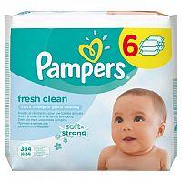 Pampers Fresh Clean - vlhčené obrúsky 6 x 64 ks (384 ks)