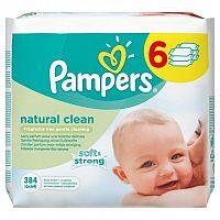 PAMPERS Natural Clean - vlhčené obrúsky 6 x 64 ks (384 ks)