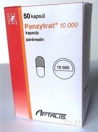 PANZYTRAT 10 000 cps 100 mg (fľ.skl.hnedá) 1x50 ks