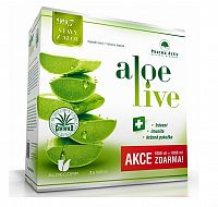 Pharma Activ AloeLive AKCIA šťava z aloe 99,7% (1+1 ) 2x1000 ml (2000 ml), 1x1 set
