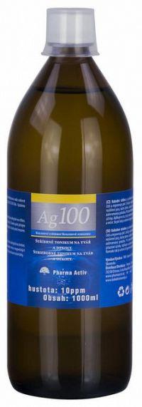 Pharma Activ Koloidné striebro Ag100 hustota 10ppm 1x1000 ml