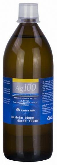 Pharma Activ Koloidné striebro Ag100 hustota 10ppm, 1x1000 ml