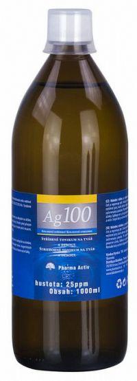 Pharma Activ Koloidné striebro Ag100 hustota 25ppm 1x1000 ml