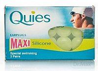 Quies Silikónové chrániče sluchu MAXI špeciálne na plávanie 3x2 ks