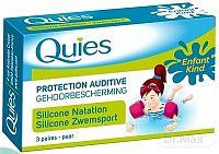 Quies Silikónové chrániče sluchu pre deti špeciálne na plávanie 3x2 ks