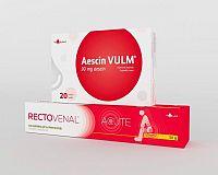 RECTOVENAL ACUTE anorektálny gél na hemoroidy 1x50 g + Aescin VULM 30 mg tbl 20 ks, 1x1 set