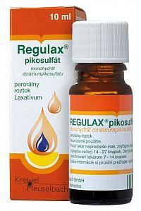 REGULAX pikosulfát sol por (liek.skl.hnedá) 1x10 ml