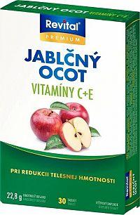 Revital Jablčný ocot + Vitamín C + Vitamín E 30 tabliet