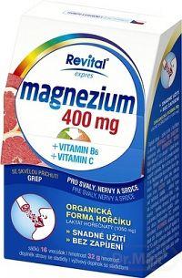 Revital Magnézium 400 mg + vitamín B6 + vitamín C sypká zmes vo vrecúškach s príchuťou grepu 1x16 ks