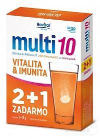 Revital Multi 10 triple pack (2+1 ) tbl eff (2x pomaranč, 1x malina) 3x20 (60 ks), 1x1 set